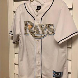 Majestic Tops - Tampa Bay Rays Majestic Jersey M